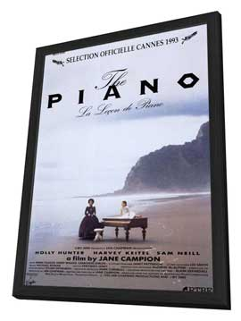 The Piano - 11 x 17 Movie Poster - Style C - in Deluxe Wood Frame