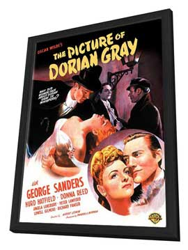 The Picture of Dorian Gray - 27 x 40 Movie Poster - Style A - in Deluxe Wood Frame
