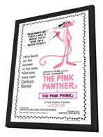The Pink Panther - 27 x 40 Movie Poster - Style A - in Deluxe Wood Frame