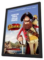 The Pirates! Band of Misfits - 11 x 17 Movie Poster - Spanish Style A - in Deluxe Wood Frame