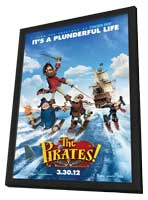 The Pirates! Band of Misfits - 11 x 17 Movie Poster - Style A - in Deluxe Wood Frame