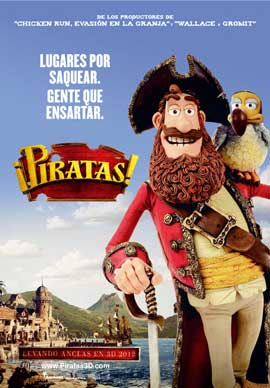 The Pirates! Band of Misfits - 27 x 40 Movie Poster - Spanish Style A