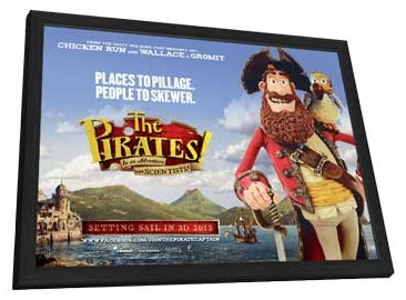 The Pirates! Band of Misfits - 11 x 17 Movie Poster - UK Style A - in Deluxe Wood Frame