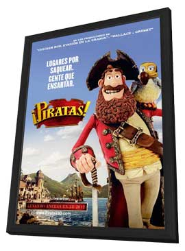 The Pirates! Band of Misfits - 27 x 40 Movie Poster - Spanish Style A - in Deluxe Wood Frame