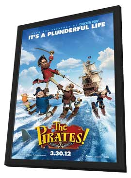 The Pirates! Band of Misfits - 27 x 40 Movie Poster - Style A - in Deluxe Wood Frame