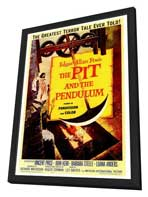 The Pit and the Pendulum - 27 x 40 Movie Poster - Style A - in Deluxe Wood Frame