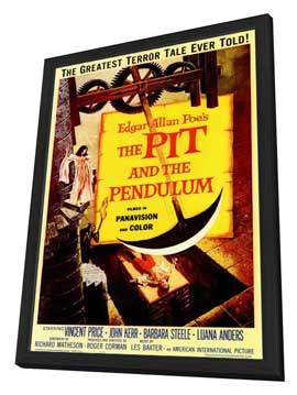 The Pit and the Pendulum - 11 x 17 Movie Poster - Style A - in Deluxe Wood Frame
