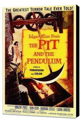 The Pit and the Pendulum - 11 x 17 Movie Poster - Style A - Museum Wrapped Canvas