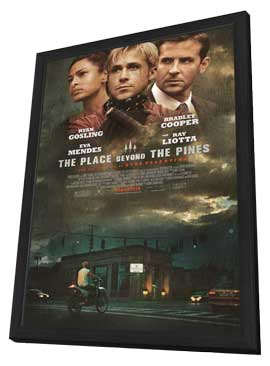 The Place Beyond the Pines - 27 x 40 Movie Poster - Style A - in Deluxe Wood Frame
