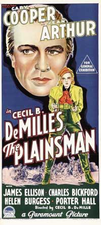The Plainsman - 13 x 30 Movie Poster - Australian Style A