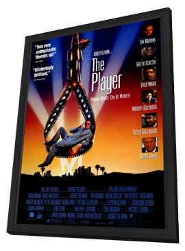 The Player - 11 x 17 Movie Poster - Style A - in Deluxe Wood Frame