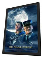 The Polar Express - 27 x 40 Movie Poster - Style D - in Deluxe Wood Frame