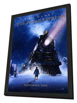 The Polar Express - 11 x 17 Movie Poster - Style A - in Deluxe Wood Frame