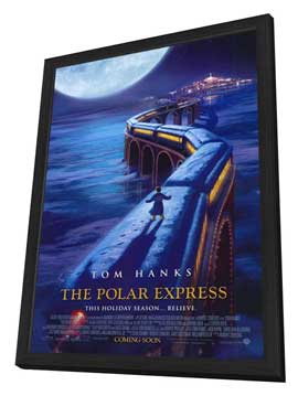 The Polar Express - 11 x 17 Movie Poster - Style D - in Deluxe Wood Frame