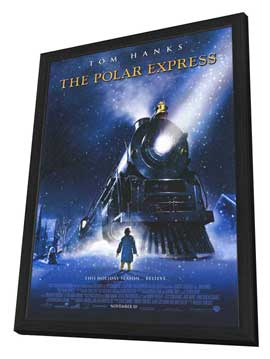 The Polar Express - 27 x 40 Movie Poster - Style A - in Deluxe Wood Frame