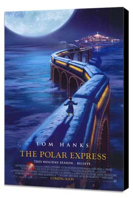 The Polar Express - 11 x 17 Movie Poster - Style D - Museum Wrapped Canvas