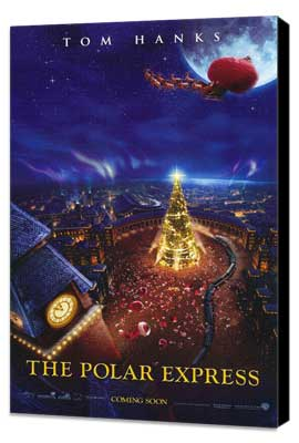 The Polar Express - 11 x 17 Movie Poster - Style E - Museum Wrapped Canvas