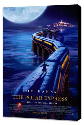 The Polar Express - 27 x 40 Movie Poster - Style C - Museum Wrapped Canvas