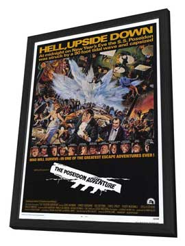 The Poseidon Adventure - 11 x 17 Movie Poster - Style A - in Deluxe Wood Frame