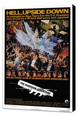 The Poseidon Adventure - 27 x 40 Movie Poster - Style A - Museum Wrapped Canvas
