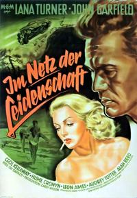 The Postman Always Rings Twice - 27 x 40 Movie Poster - German Style E