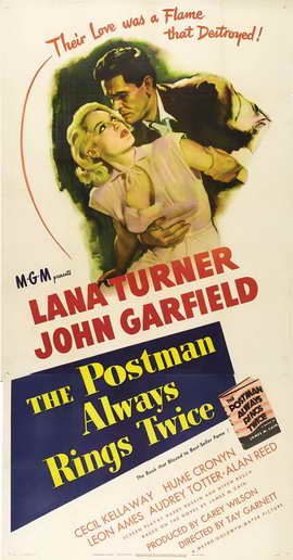 The Postman Always Rings Twice - 27 x 40 Movie Poster - Style B
