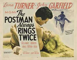The Postman Always Rings Twice - 22 x 28 Movie Poster - Half Sheet Style A