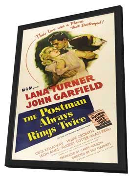 The Postman Always Rings Twice - 27 x 40 Movie Poster - Style B - in Deluxe Wood Frame