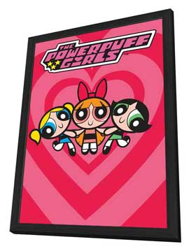 The Powerpuff Girls - 11 x 17 Movie Poster - Style A - in Deluxe Wood Frame