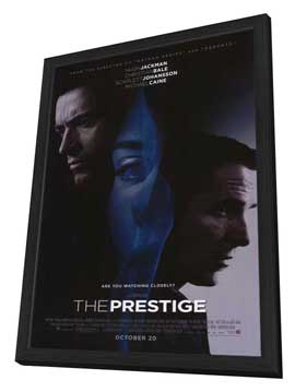 The Prestige - 27 x 40 Movie Poster - Style A - in Deluxe Wood Frame