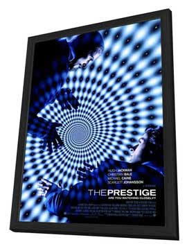 The Prestige - 27 x 40 Movie Poster - Style B - in Deluxe Wood Frame