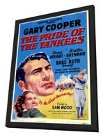 The Pride of the Yankees - 27 x 40 Movie Poster - Style A - in Deluxe Wood Frame