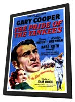 The Pride of the Yankees - 11 x 17 Movie Poster - Style C - in Deluxe Wood Frame