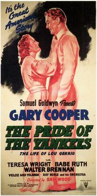 The Pride of the Yankees - 11 x 17 Movie Poster - Style B