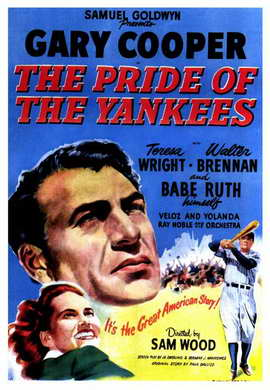 The Pride of the Yankees - 11 x 17 Movie Poster - Style C