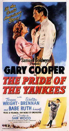 The Pride of the Yankees - 11 x 17 Movie Poster - Style E