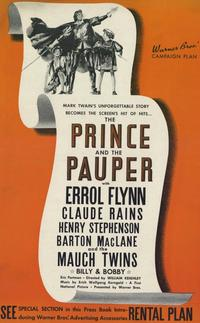 The Prince and the Pauper - 11 x 17 Movie Poster - Style A
