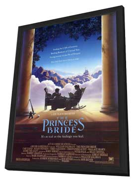 The Princess Bride - 27 x 40 Movie Poster - Style A - in Deluxe Wood Frame