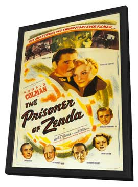 Prisoner of Zenda - 11 x 17 Movie Poster - Style B - in Deluxe Wood Frame