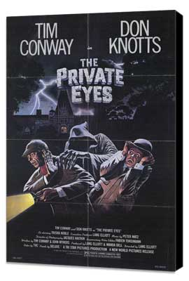 The Private Eyes - 11 x 17 Movie Poster - Style A - Museum Wrapped Canvas
