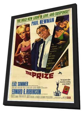The Prize - 11 x 17 Movie Poster - Style A - in Deluxe Wood Frame