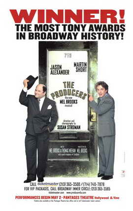The Producers (Broadway) - 11 x 17 Poster - Style A