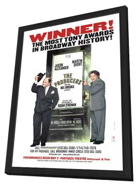 The Producers (Broadway) - 14 x 22 Poster - Style A - in Deluxe Wood Frame