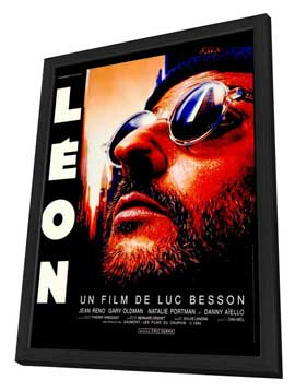 The Professional - 27 x 40 Movie Poster - French Style A - in Deluxe Wood Frame