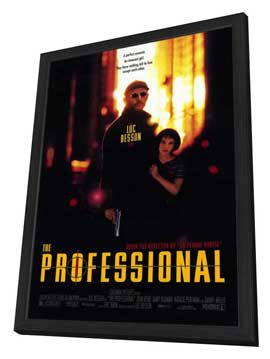 The Professional - 27 x 40 Movie Poster - Style A - in Deluxe Wood Frame