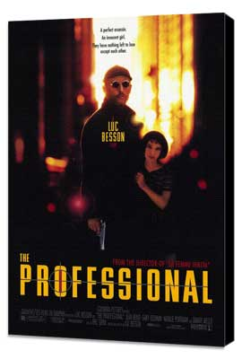 The Professional - 27 x 40 Movie Poster - Style A - Museum Wrapped Canvas