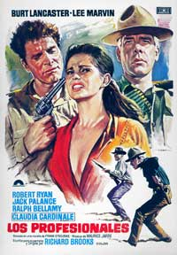 The Professionals - 11 x 17 Movie Poster - Spanish Style A