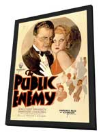 The Public Enemy - 11 x 17 Movie Poster - Style A - in Deluxe Wood Frame