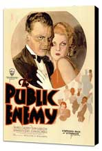The Public Enemy - 11 x 17 Movie Poster - Style A - Museum Wrapped Canvas