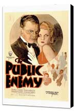 The Public Enemy - 27 x 40 Movie Poster - Style A - Museum Wrapped Canvas